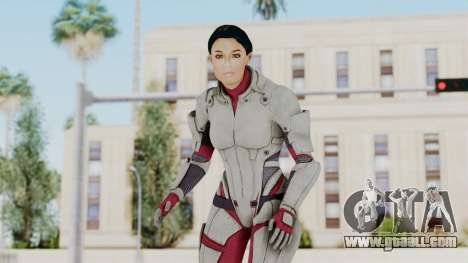 ME 1 Ashley Williams Default White Armor for GTA San Andreas