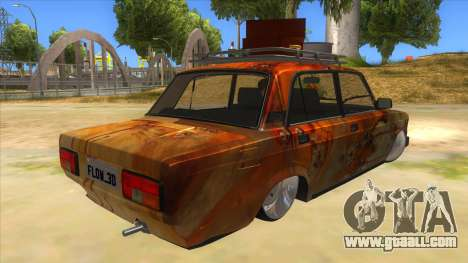 VAZ 2107 Rusty Gringo for GTA San Andreas right view