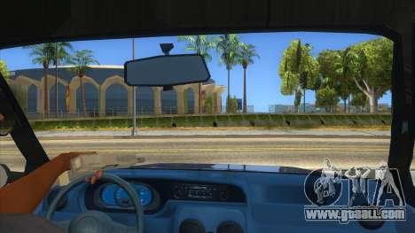 Dacia Solenza V2 for GTA San Andreas inner view