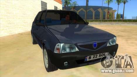 Dacia Solenza V2 for GTA San Andreas back view
