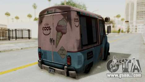 Hitman Absolution - Ice Cream Van for GTA San Andreas back view