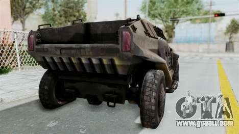PITBULL from CoD Advanced Warfare for GTA San Andreas back left view