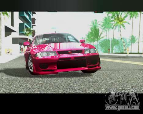 Nissan R33 GT-R Tunable for GTA San Andreas side view