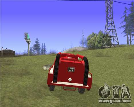 GAZ 63 Fire engine for GTA San Andreas inner view