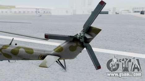 Mi-24V Ukraine Air Force 010 for GTA San Andreas back left view