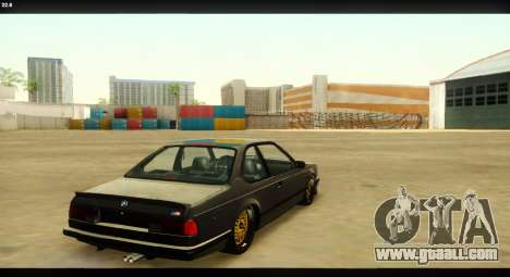 BMW M635 CSi (E24) for GTA San Andreas upper view