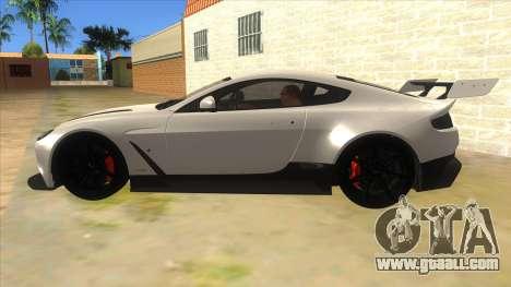 2015 Aston Martin Vantage GT12 for GTA San Andreas left view