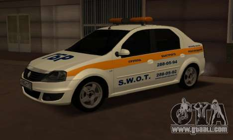 Renault Logan Security Service for GTA San Andreas