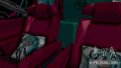 Toyota Vellfire Miku Pocky Exhaust Final Version for GTA San Andreas back view