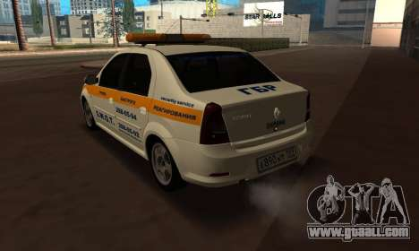 Renault Logan Security Service for GTA San Andreas left view
