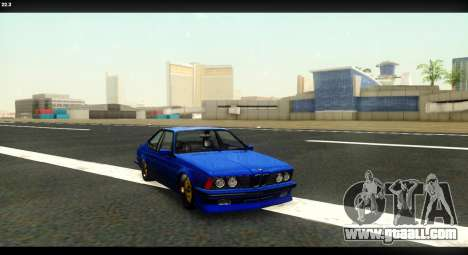 BMW M635 CSi (E24) for GTA San Andreas back view