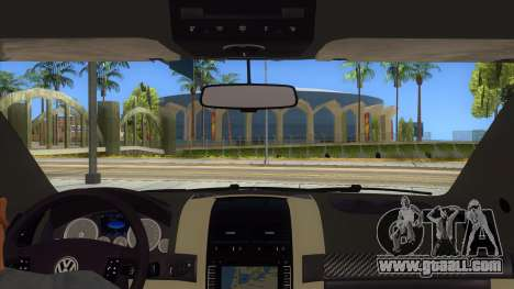 Volkswagen Touareg HQ for GTA San Andreas inner view