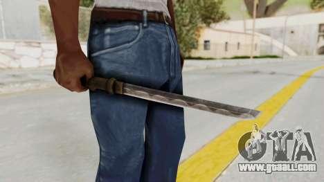 Skyrim Iron Tanto for GTA San Andreas