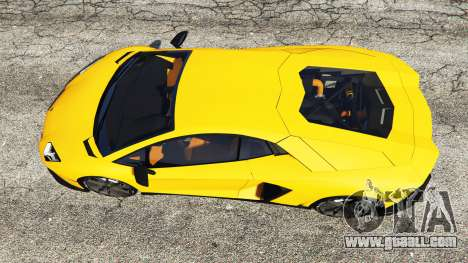 GTA 5 Lamborghini Aventador LP720-4 50th Anniversary back view