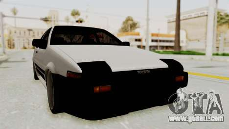 Toyota AE86 Sprinter Trueno for GTA San Andreas right view