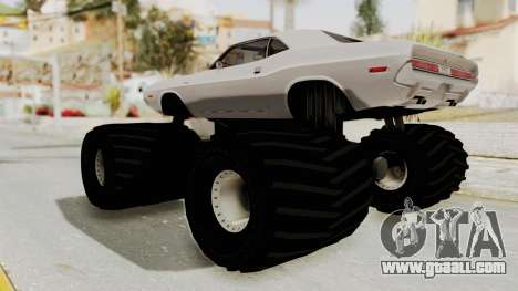 Dodge Challenger 1970 Monster Truck for GTA San Andreas right view