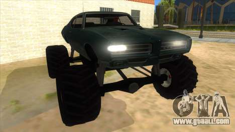 1969 Pontiac GTO Monster Truck for GTA San Andreas back view