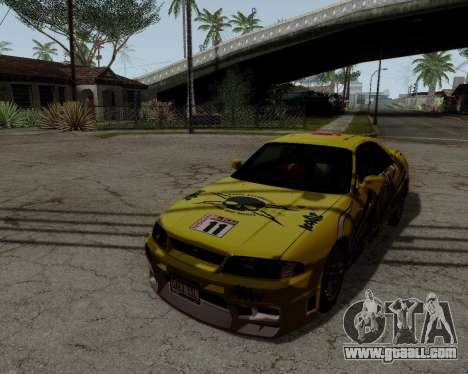 Nissan R33 GT-R Tunable for GTA San Andreas upper view