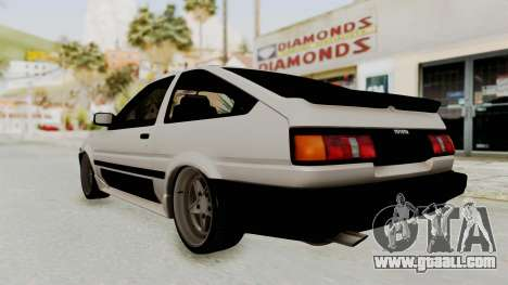 Toyota AE86 Sprinter Trueno for GTA San Andreas left view