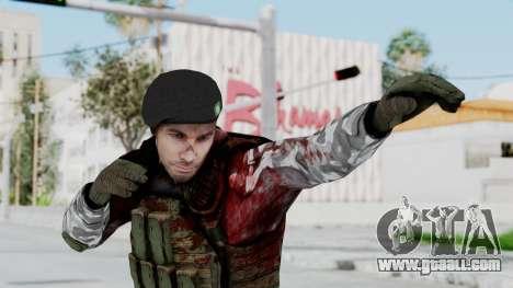 Black Mesa - Wounded HECU Marine Beret for GTA San Andreas