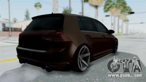 Volkswagen Golf 7 Stance for GTA San Andreas left view