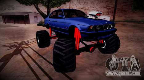 BMW M5 E34 Monster Truck for GTA San Andreas bottom view