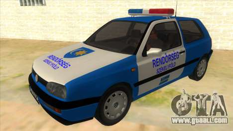Volkswagen Golf 3 Police for GTA San Andreas