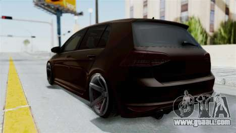 Volkswagen Golf 7 Stance for GTA San Andreas back left view