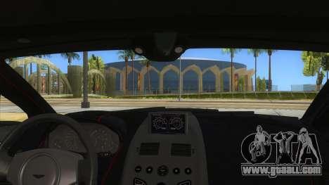 2015 Aston Martin Vantage GT12 for GTA San Andreas inner view