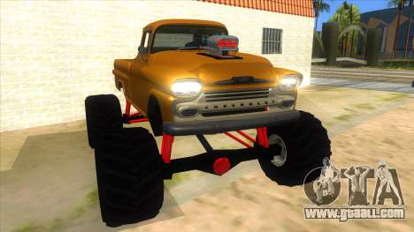 1958 Chevrolet Apache Monster Truck for GTA San Andreas back view