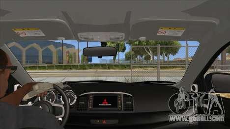 Mitsubishi Lancer Evolution X Tunable for GTA San Andreas inner view