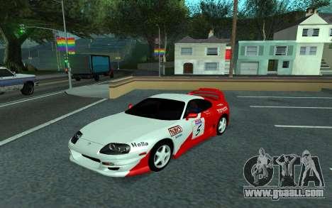 Toyota Supra Tunable for GTA San Andreas back view