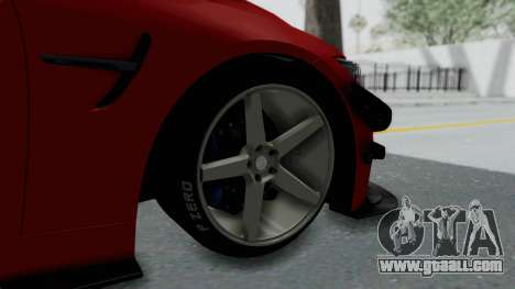 BMW M4 F82 Race Tune for GTA San Andreas back left view