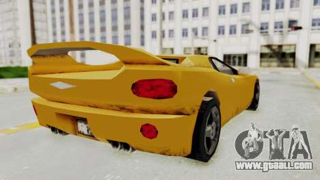 GTA 3 Infernus for GTA San Andreas left view
