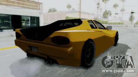 Cheetah ZTR v1 for GTA San Andreas left view