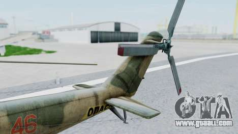 Mi-24V Russian Air Force 46 for GTA San Andreas back left view