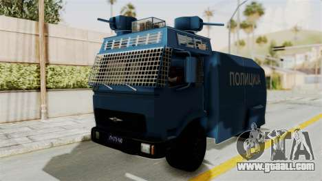 FAP Water Cannon for GTA San Andreas back left view