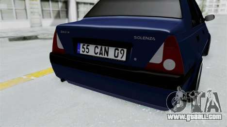 Dacia Solenza for GTA San Andreas back view