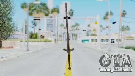 Skyrim Iron Claymore for GTA San Andreas second screenshot