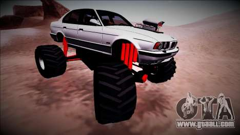 BMW M5 E34 Monster Truck for GTA San Andreas side view