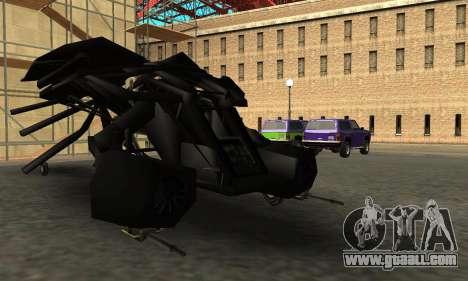 The Dark Knight Rises BAT v1 for GTA San Andreas