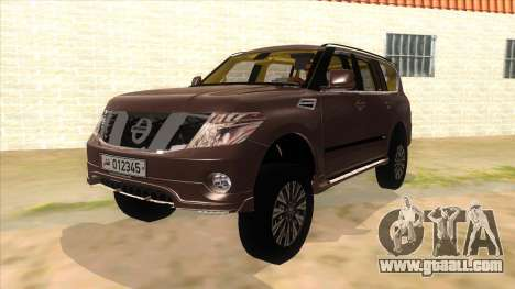 Nissan Patrol 2016 for GTA San Andreas