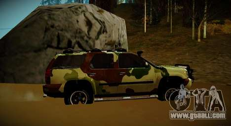 Chevrolet Tahoe LTZ v2 Camofluge for GTA San Andreas back left view