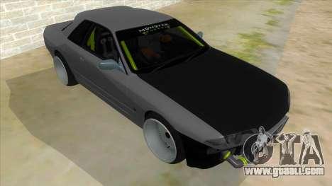 Nissan Skyline R32 Drift Monster Energy for GTA San Andreas back view