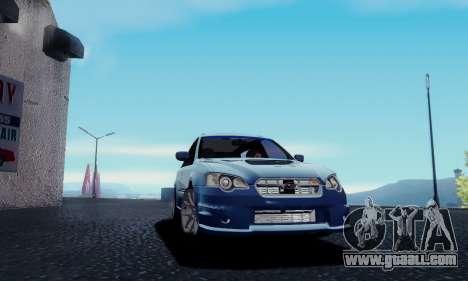 Subaru Legacy STi Wagon 2008 for GTA San Andreas back left view