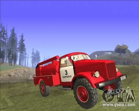GAZ 63 Fire engine for GTA San Andreas back left view