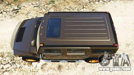 GTA 5 Hummer H2 2005 [tinted] v2.0 back view