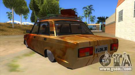 VAZ 2107 Rusty Gringo for GTA San Andreas back left view
