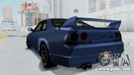 Nissan Skyline R33 GT-R V-Spec 1995 for GTA San Andreas left view