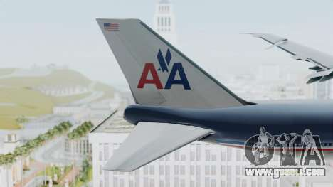 Boeing 747-200 American Airlines for GTA San Andreas back left view